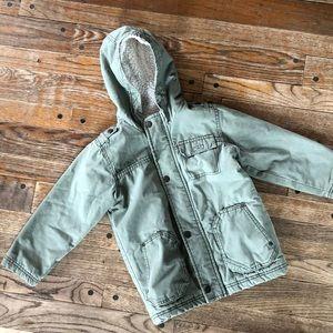 Boys 5T olive green winter coat